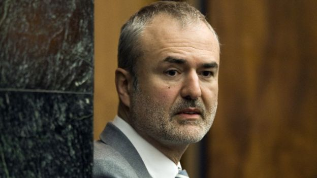 Gawker Media founder Nick Denton arrives in a courtroom in St. Petersburg, March 2016