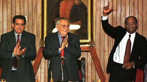 Isaías Rodríguez, Luis Miquilena y Aristóbulo Istúriz.