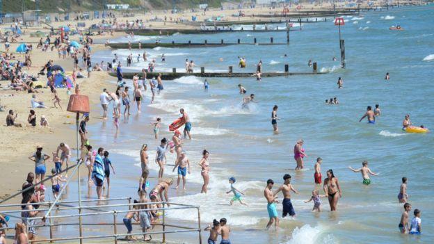 Пляж в Англии