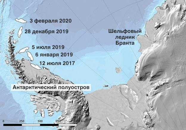 Карта Антарктики