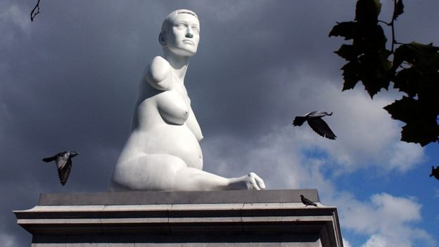 The marble sculpture of Alison Lapper