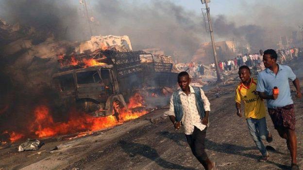 Idadi ya watu waliouawa kwenye shambulizi Mogadishu yafika 300