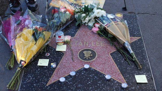 نجمة ستان لي في ممشى المشاهير في لوس أنجليس