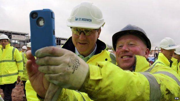 David Cameron poses for selfie