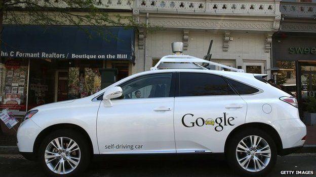 A Google Lexus driverless car