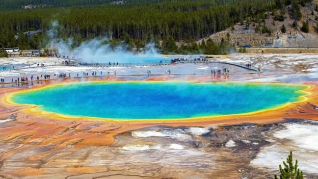 Manantial termal de Yellowstone