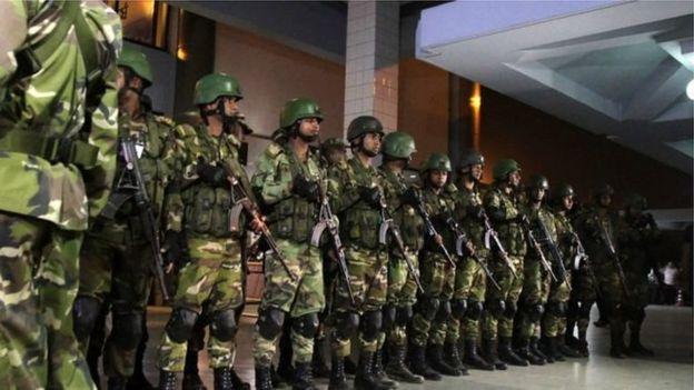 বাংলাদেশ সেনাবাহিনী।