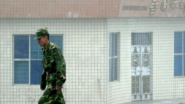 Un soldado chino en la frontera con India en 2008.