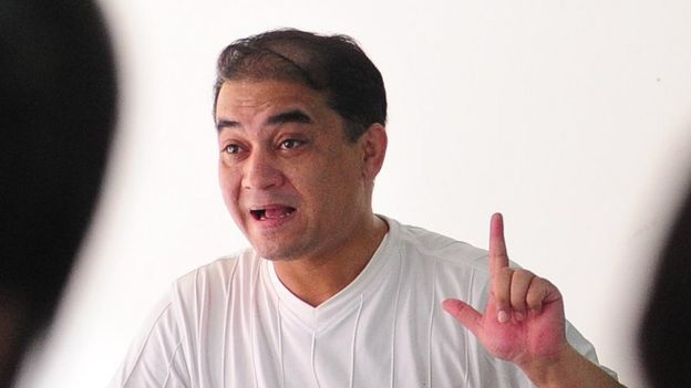 Ilham Tohti, pictured in 2010, giving a lecture in Beijing