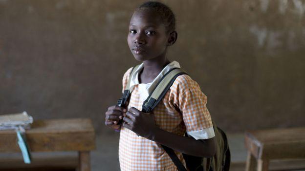 Pupil in Kenya