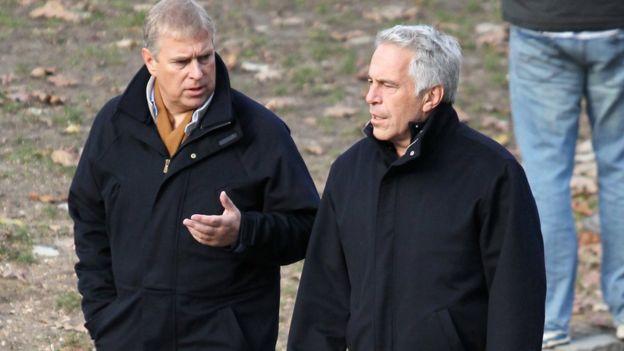 El príncipe Andrés y Jeffrey Epstein en Central Park, Nueva York