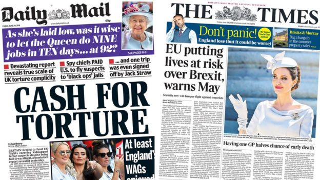 Daily Mail and the Times