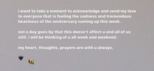 Ariana Grande mesajı