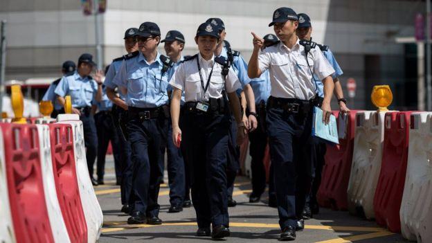 香港湾仔会展中心外高级警员带队视察环境(28/6/2017)