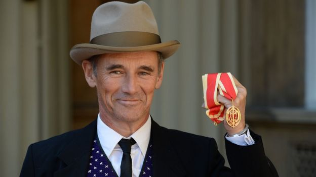 Mark Rylance was presented with a knighthood at the ceremony