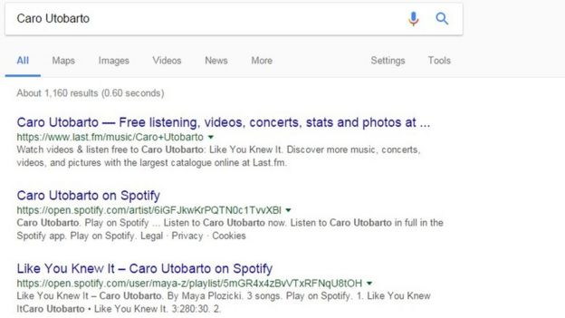 how to search on spotify website