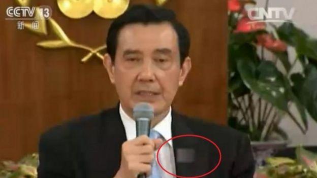 中國電視台經常給台灣青天白日旗打馬賽克