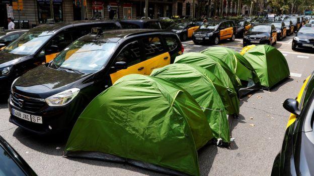 taxi uber barcelona
