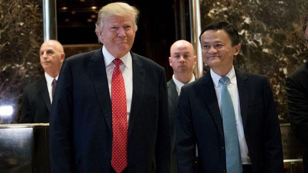 Jack Ma y Trump.