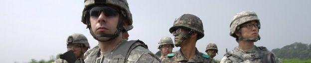 ABD ve Güney Kore askerleri