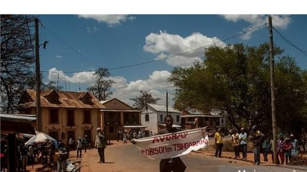 Manifestation à Madagascar