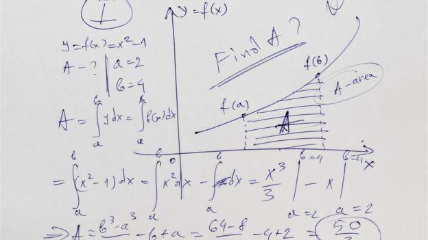 Problema matemático en papel