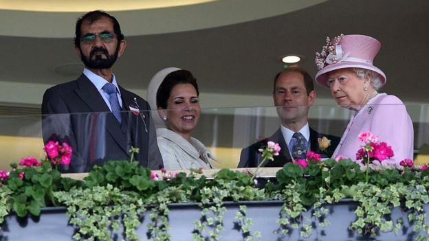ملکه بریتانیا و حاکم دوبی