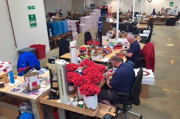 Lady Haig Poppy Factory in Redford Barracks