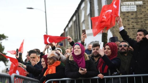 Crowds at opening of mosque