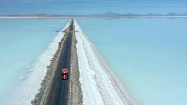 Mina de litio en Bolivia
