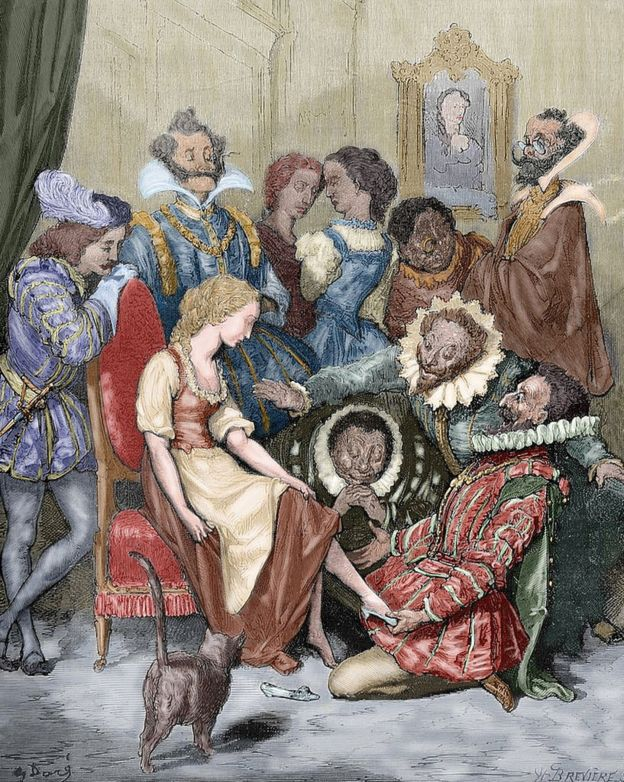 تصویری از داستان سیندرلا که در سال ۱۸۸۲ کشیده شده است