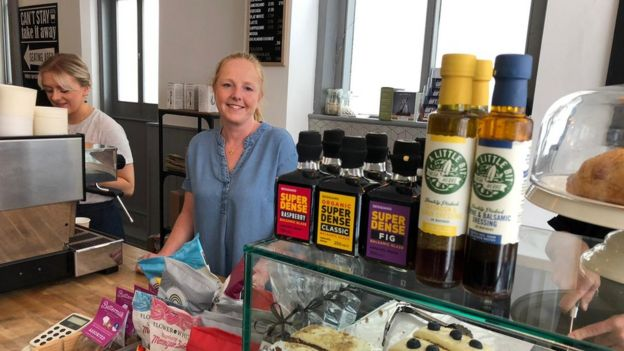 Claire Woodend, owns Ampthill Deli and Kitchen, said before the lockdown about half of her takings were in cash.