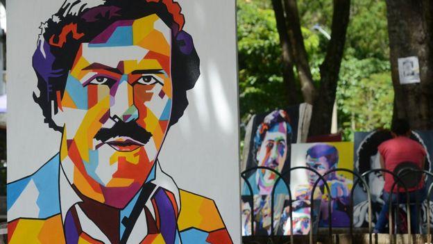 Pintura de Pablo Escobar