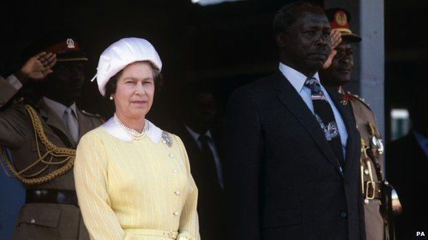 The Queen & Daniel arap Moi