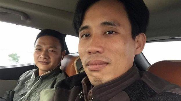 Bạch Hồng Quyền từng hay đồng hành cùng Hoàng Đức Bình, nhà hoạt động môi trường đã bị kết án 14 năm tù giam