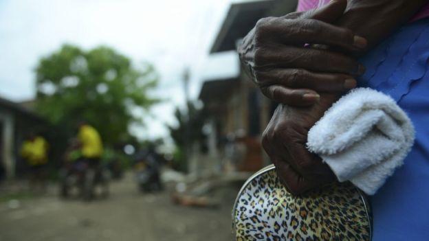 Vítima de conflito na Colômbia