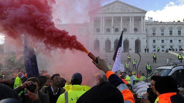 Manifestação em Portugal