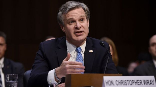 Chefe do FBI Christopher Wray