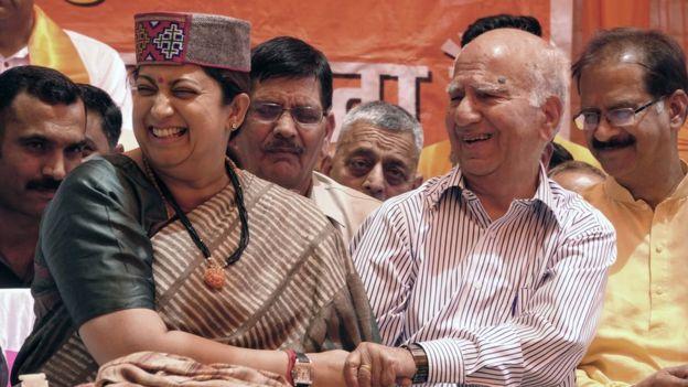 Smriti Irani at a campaign event