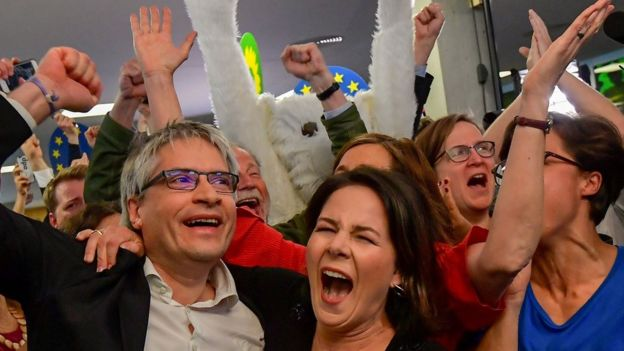 German Greens celebrate