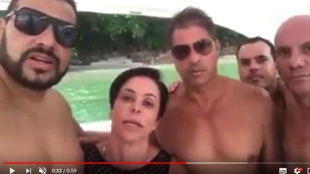 Vídeo em que Cristiane Brasil, ao lado de amigos em uma lancha, se defende de acusações
