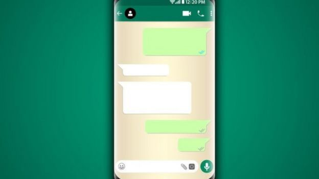 Representação de troca de mensagens no WhatsApp