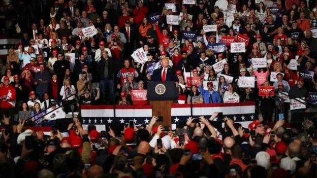 Donald Trump en un mitin en Nueva Jersey