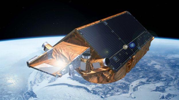 ilustração de um satélite