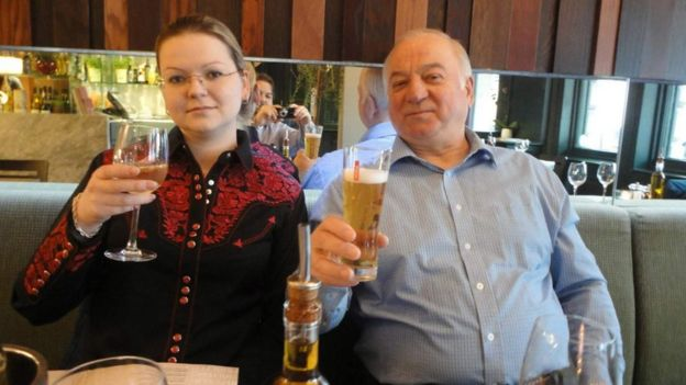 Sergei and his daughter Yulia in restaurant