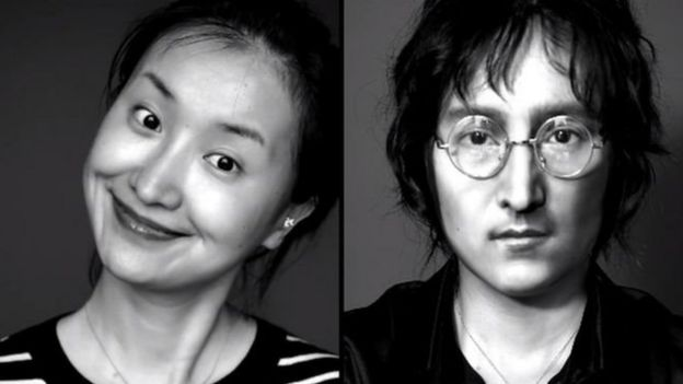 Yuyamika uses makeup to make her look like celebrities like John Lennon