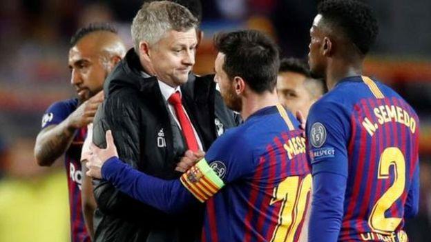 kocha wa Manchester United Ole Gunnar Solskjaer alimsifu Messi