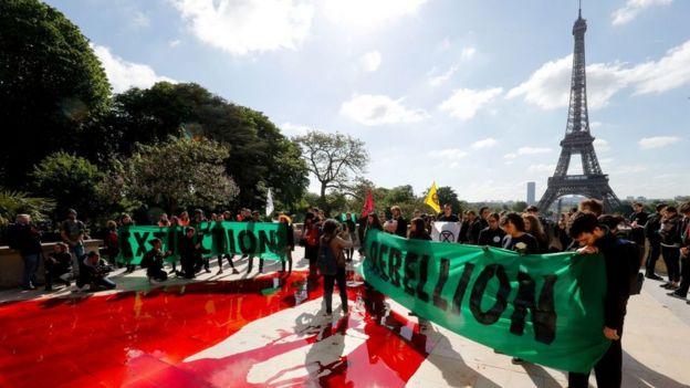 Protesta ambiental en París