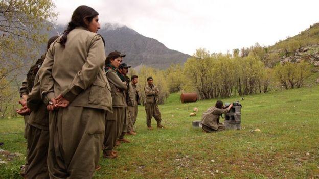 PKK fighters in northern Iraq
