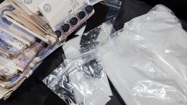 cocaína e libras